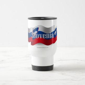 Bandera que agita de Eslovenia Taza De Viaje De Acero Inoxidable