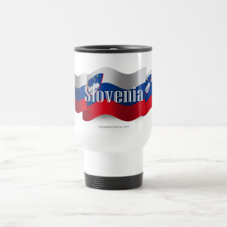 Bandera que agita de Eslovenia Taza De Viaje