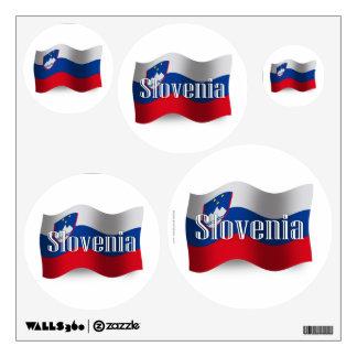 Bandera que agita de Eslovenia Vinilo Adhesivo
