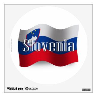 Bandera que agita de Eslovenia Vinilo Decorativo