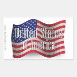 Bandera que agita de Estados Unidos Etiquetas