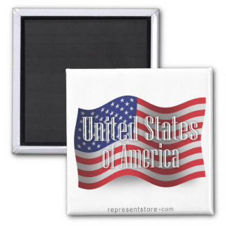 Bandera que agita de Estados Unidos Imán De Nevera