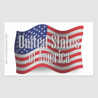 Bandera que agita de Estados Unidos Rectangular Altavoces