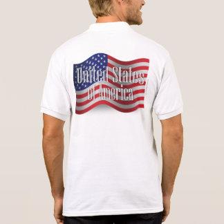 Bandera que agita de Estados Unidos Polos