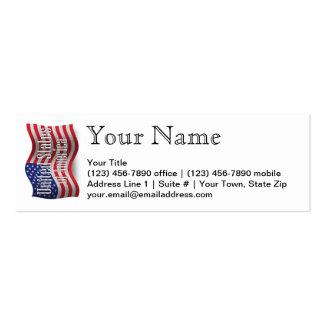 Bandera que agita de Estados Unidos Tarjetas De Visita Mini