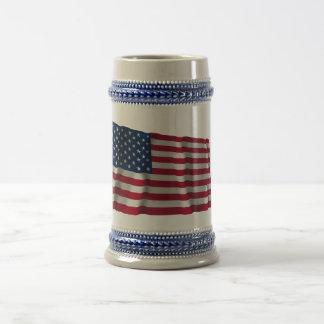 Bandera que agita de Estados Unidos Jarra De Cerveza