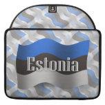 Bandera que agita de Estonia Funda Macbook Pro