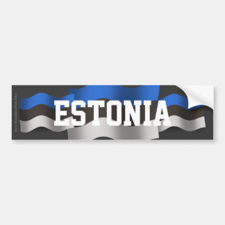 Bandera que agita de Estonia Pegatina Para Auto