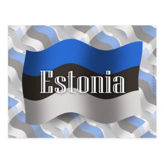 Bandera que agita de Estonia Postal