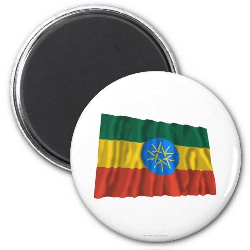 Bandera que agita de Etiopía Iman Para Frigorífico