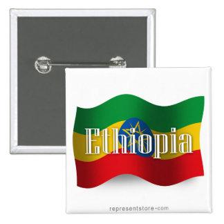 Bandera que agita de Etiopía Pins