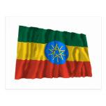 Bandera que agita de Etiopía Tarjeta Postal