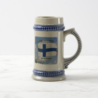 Bandera que agita de Finlandia Jarra De Cerveza