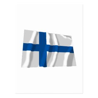 Bandera que agita de Finlandia Postales