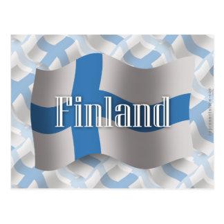 Bandera que agita de Finlandia Tarjeta Postal