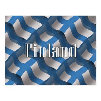 Bandera que agita de Finlandia Tarjetas Postales