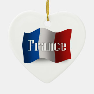 Bandera que agita de Francia Ornato