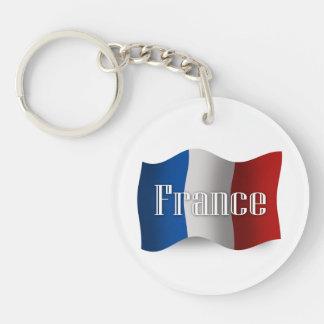Bandera que agita de Francia Llavero