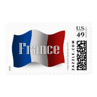 Bandera que agita de Francia Franqueo