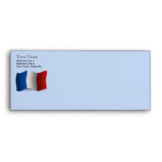 Bandera que agita de Francia