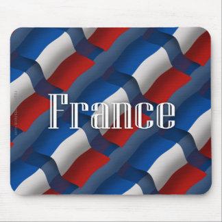 Bandera que agita de Francia Tapete De Raton