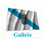 Bandera que agita de Galicia con nombre Postales
