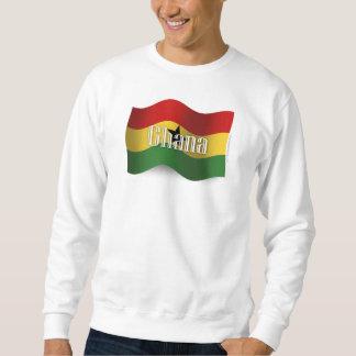 Bandera que agita de Ghana Sudadera