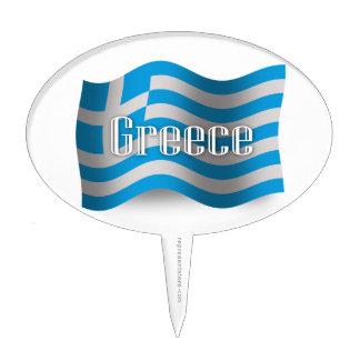 Bandera que agita de Grecia Decoraciones De Tartas