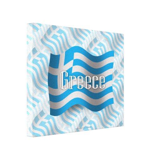 Bandera que agita de Grecia Impresiones De Lienzo