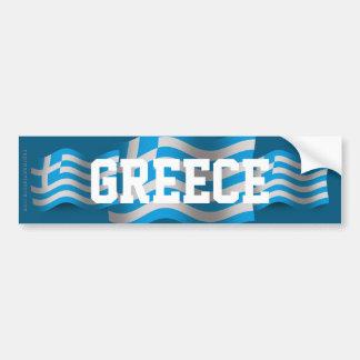Bandera que agita de Grecia Pegatina Para Auto