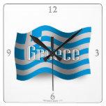 Bandera que agita de Grecia Reloj