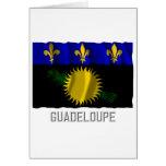 Bandera que agita de Guadalupe con nombre Tarjetón
