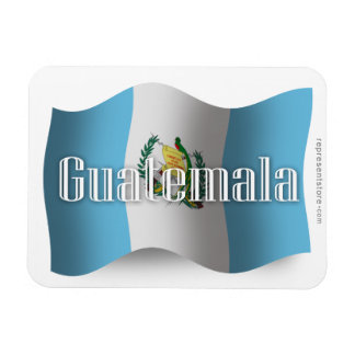 Bandera que agita de Guatemala Imanes Rectangulares