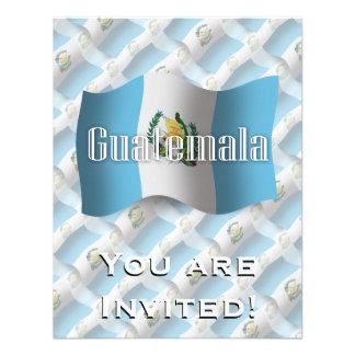 Bandera que agita de Guatemala Invitacion Personal