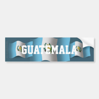 Bandera que agita de Guatemala Pegatina Para Auto