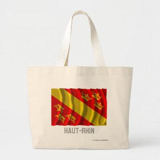 Bandera que agita de Haut-Rhin con nombre Bolsa De Mano