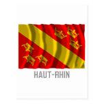 Bandera que agita de Haut-Rhin con nombre Postal