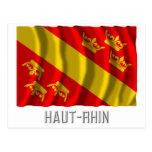 Bandera que agita de Haut-Rhin con nombre Postales