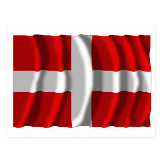 Bandera que agita de Haute-Saboya Tarjeta Postal