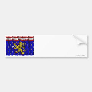 Bandera que agita de Haute-Saône Pegatina Para Auto