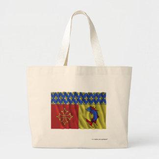 Bandera que agita de Hautes-Alpes Bolsas De Mano