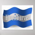 Bandera que agita de Honduras Impresiones