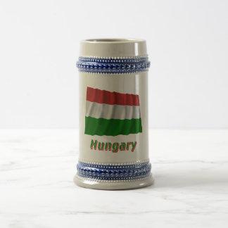 Bandera que agita de Hungría con nombre Jarra De Cerveza