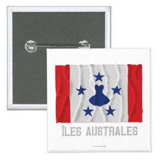 Bandera que agita de Îles Australes con nombre Pin