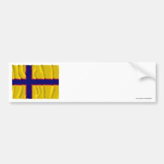 Bandera que agita de Ingermanland Pegatina De Parachoque