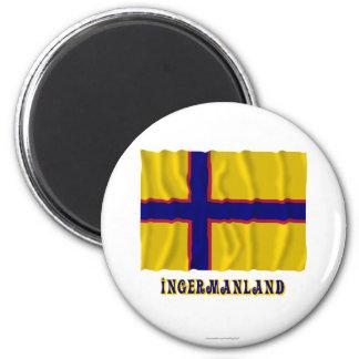 Bandera que agita de Ingermanland con nombre Imán Para Frigorífico