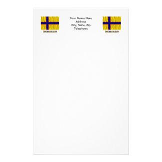 Bandera que agita de Ingermanland con nombre Papeleria Personalizada