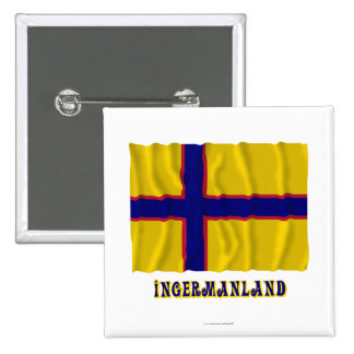 Bandera que agita de Ingermanland con nombre Pins