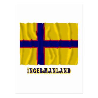Bandera que agita de Ingermanland con nombre Tarjetas Postales