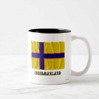 Bandera que agita de Ingermanland con nombre Tazas De Café
